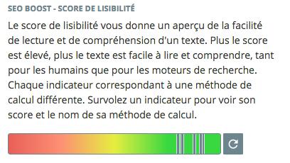 Lisibilité des contenus textes